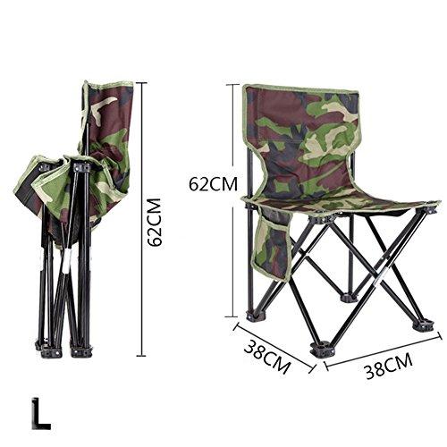 PROKTH Silla Plegable para Exterior Silla de Pesca Silla de Camping Silla de Playa Silla de Picnic Barbacoa de Camuflaje Taburete Plegable L