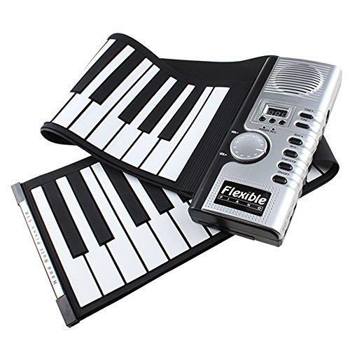 AGPtEK 61 Keys Flexible Foldable Soft Portable Electric Digital Roll up Keyboard Piano