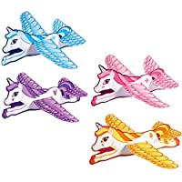 HENBRANDT 12x Unicorn Gliders Perfect For Kids/Girls Party Loot Goody Bags - Mix Of Colours
