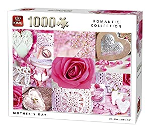 King 5763 Romantic Collection - Puzzle (1000 Piezas), diseño de día de la Madre, Color Rosa