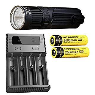 Combo: Nitecore SRT9 Flashlight -2150 Lumens w/2x NL186 Battery & I4 Charger