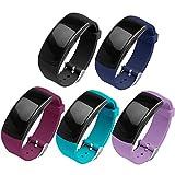OenFoto Kompatibel Gear Fit 2 Pro/Fit 2 Band, Zubehör Ersatzgurt aus Silikon für Samsung Gear Fit 2 Pro SM-R365 und Gear Fit 2 SM-R360 Smartwatch -5er-Pack