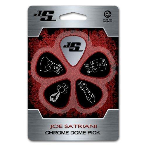 Planet Waves JSCD-01 Joe Satriani Chrome Dome Pick Edelstahl 5 Picks