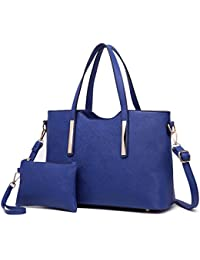 Miss Lulu Fashion Ladies Pu Saffiano Leather Top Handle Bags 2 Piezas Tote para Mujer