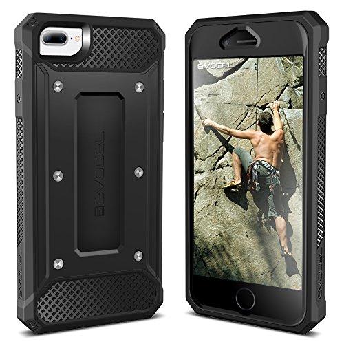 iPhone 7 Plus Case / iPhone 6 Plus Case, Evocel [Explorer Series] Premium Hybrid Protector [Dual Layer][Belt Swivel Clip] For iPhone 7 Plus / iPhone 6 Plus & 6s Plus, Red (EVO-IPH7PLUS-ZZ03) Black