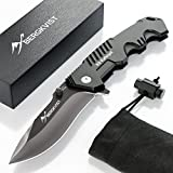 BERGKVIST Klappmesser K9 I Scharfes Outdoor Messer mit ebook I Jagdmesser & Survival Knife...