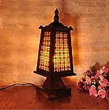 H&M Lampada da Scrivania Retro in legno Torre Lampade casa Loft Night Light Eye Protection