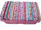50 piezas 20 cm * 25 cm Tela de Algodón Superior Sin Repetir Diseño Telas de Patchwork Quilting Para Coser Tilda Doll Tela Textil ...