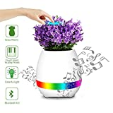 Vaso di fiori di musica, Easy Eagle K3 Touch Plant Può Riprodurre l'altoparlante Wireless Bluetooth Con il Lucchetto Notturno Colorato LEDSmart Music Pot Compleanno Presente (Bianco)
