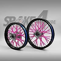 Cubre radios Rosa Rayos Spoke Skins Motocross llanta enduro rueda moto