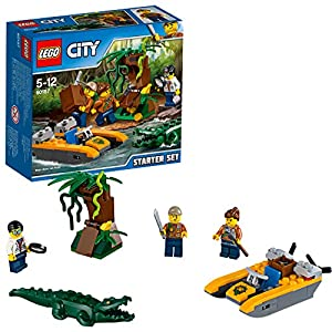 LEGO Jurassic World Jungle Explorers Starter Set della Giungla, Multicolore, 60157 5702015968720 LEGO
