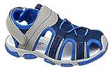 GIBRA® Kinder Trekking Sandalen mit Klettverschluss, dunkelblau/grau, Gr.34