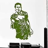xingbuxin Messi Barcelona Football Player Adesivo murale per cameretta Adesivi murali Asilo Nido Vinile Home Decor Drop Decor 5 42x66cm