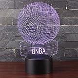 3D Optische Illusions-Lampen NHsunray LED 7 Farben Touch-Schalter Ändern Nachtlicht Für Schlafzimmer Home Decoration Hochzeit Geburtstag Weihnachten Valentine Geschenk (NBA Basketball)