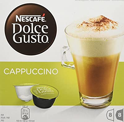 NESCAFÉ Dolce Gusto Cappuccino Coffee Pods, 16 capsules (Pack of 3 - Total 48 Capsules, 24 Servings) by Nestle