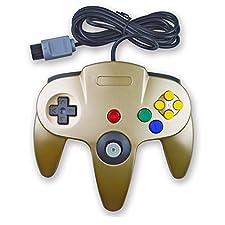 Gold 3rd Party N64 Controller / Gamepad für Nintendo 64 Konsole