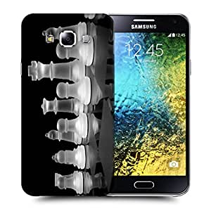 Snoogg Crystal Chess Designer Protective Back Case Cover For SAMSUNG GALAXY E5