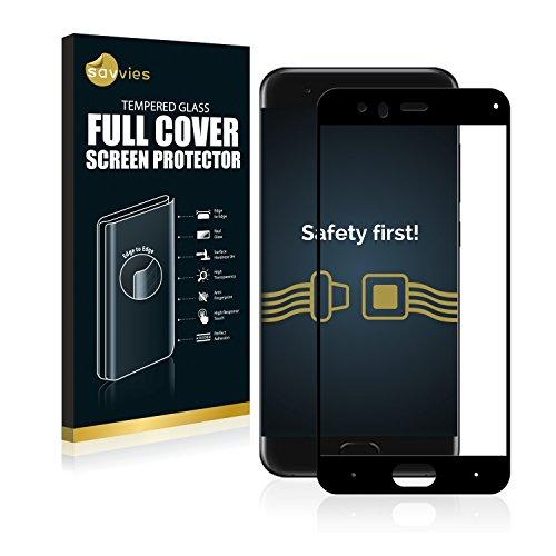 Savvies Full Cover für Xiaomi Mi 6 Panzerglas Full Screen Schutzfolie - vollständige Abdeckung, 3D Curved, 9H Härte, Schwarz