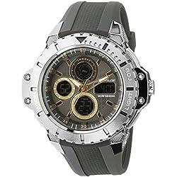 UPhasE Quartz Watch with White Dial Analogue-Digital Quartz Chronograph, 702-200-1 up