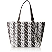 Kamryn Borsa Guess Donna StripeBsp Tote Black Multicolore 42x26 dC7wp