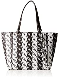 Guess - Kamryn, Bolsos totes Mujer, Multicolor (Black Stripe/Bsp), 42x26.5x15 cm (W x H L)