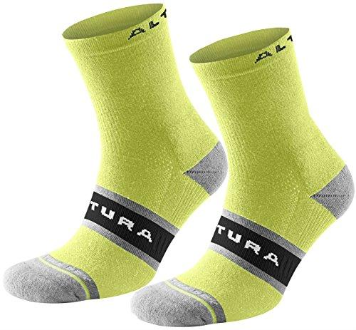 Altura Dry Elite Tall Sock X2 Cycling Large L Fluoro Yellow