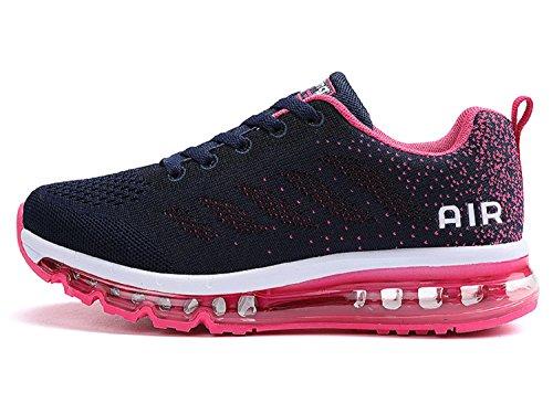 Unisex uomo donna scarpe da ginnastica corsa sportive fitness running sneakers basse interior casual all'aperto ( rosa,40 eu )