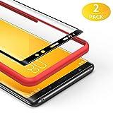 BANNIO für Panzerglas für Samsung Galaxy Note 8,[2 Stück] 3D Panzerglasfolie Schutzfolie für Samsung Galaxy Note 8 mit Positionierhilfe,9H Härte,Anti Rayures,Blasenfrei,Anti-Kratzen,Schwarz
