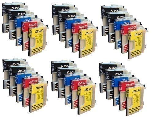 30 Druckerpatronen für Brother mit freier Farbauswahl LC980 LC1100 DCP-145C DCP-165C DCP-185C DCP-195C DCP-365CN DCP-375CW DCP-385C DCP-395CN DCP-585CW DCP-J715W DCP 6690CW MFC-250C MFC-255CW MFC-290C MFC-295C MFC-295CN MFC-355CW MFC-490CN MFC-490CW MFC-J615W MFC-670CDW MFC-790CW MFC-795CW MFC- 930CDN MFC-990CW MFC-930CDWN MFC-5490CN MFC-5890CN MFC-6490CN MFC-6490CW MFC-6890CN MFC-6890CDW MFC-5895CW -