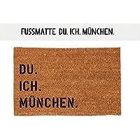 Kokosfußmatte Teppich DU. ICH. MÜNCHEN. 40 x 60 cm Geschenk Einzug Geburtstag