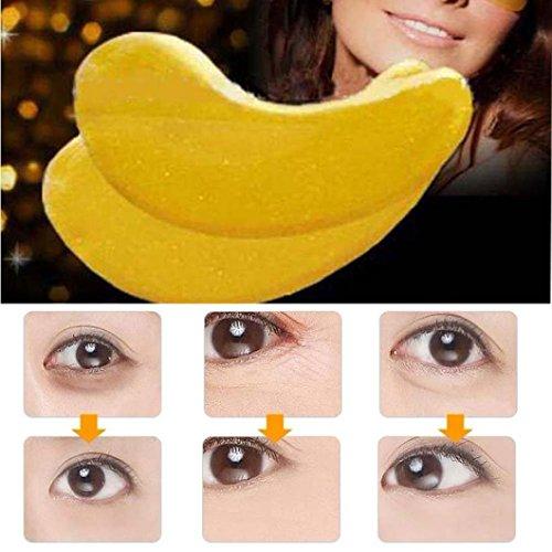 Augenmaske Gold (Tefamore 10 Paare Gold Kristall-Pulver Gel Kollagen Auge Maske Masken)