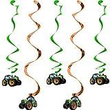 Toy - 5 Deko-Wirbel * TRAKTOR * für Kindergeburtstag oder Motto-Party // Kinder Geburtstag Kinderparty Party Decken-Deko Deko Swirl Decorations Dekoration Hänge-Deko Motto Bauernhof Scheune Trekker Farm