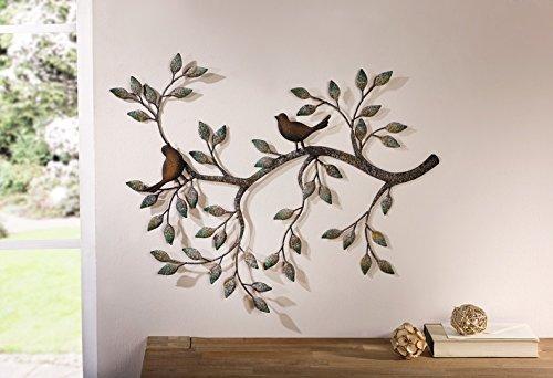 Wanddeko 'Ast mit Vögeln'