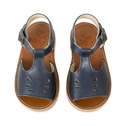 Junge Soles Belle T-Bar Sandale - Dark Navy - UK 4/US 5/EU 20 (Schuhe Infant Navy)
