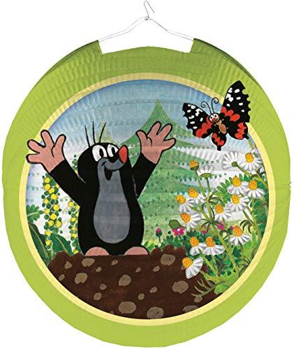 Amscan Lampion * DER Kleine Maulwurf * ALS Deko oder Spiel für Kindergeburtstag, Martinssingen oder Karneval   Mottoparty Motto Party Laterne Laternenumzug Umzug Zeichentrick TV