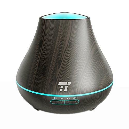Aroma Diffuser TaoTronics 400ml Duftzerstäuber ätherisches Öl Diffusor Luftbefeuchter für Aromatherapie, einstellbarer Nebelausstoß, 7 Farbstufen, Niedrigwasserschutz