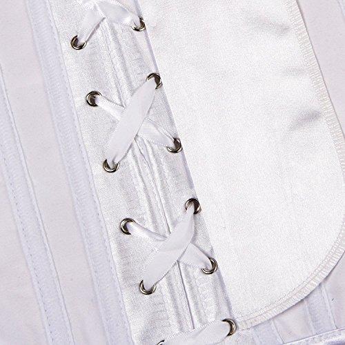 Donna Floreale Allenamento Vita Corsetto underbust bustino sottoseno Modellante Intimo White