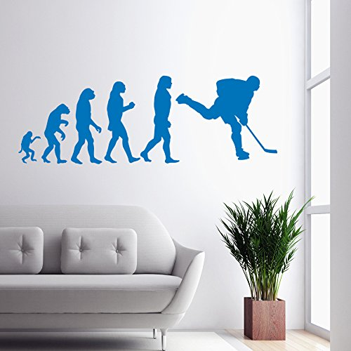 Vinyl Wandtattoo Menschliche Evolution Anatomie Höhle Entwickeln Extremsportarten Wettbewerb Hockey Eishockeyspieler Spieler Eislaufen Sport Wandaufkleber Wandsticker Wanddekoration Kinderzimmer A484