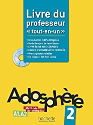 Adosphere 2 A1-A2 : Livre du professeur plus one CD ROM (French Edition) by Marie-Laure Poletti (2013-06-09)