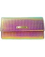 STYLE MIXX LYDC London Designer Hologram Purse Bag Ladies Flapover Coin Purse Wallet Purse
