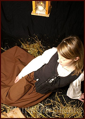 Miederweste aus Baumwolle, schwarz Gr. S-XL - Mieder, Trachten Weste Größe L -
