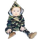 I neonati dei neonati dei capretti dei Rawdah neonati vestono i pantaloni del camuffamento delle parti superiori + pantaloni lunghi (18/24 Mesi, Verde)