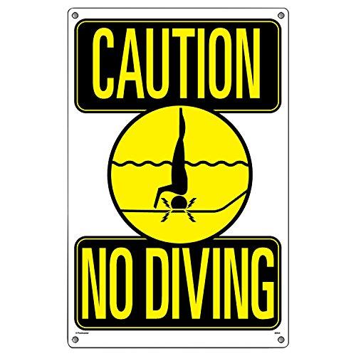 Poolmaster 40344ACHTUNG KEIN Tauchen Schild für privaten, oder Pools