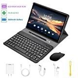 4G Tablet 10 Pollici con WIFI Offerte Android 9.0 Quad Core 4GB RAM 64GB ROM/Fino a 128GB 8000mAh WIFI Tablet 8Pcs DUODUOGO P8 Fotocamera 8MP 1920*1200 Dual SIM Bluetooth GPS OTG (P6 - Nero)