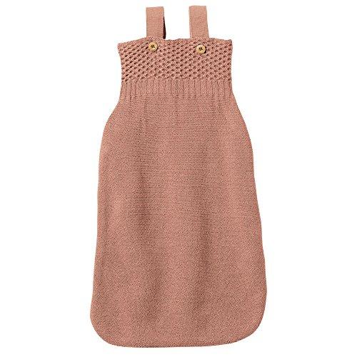 disana Baby Strick Schlafsack aus Bio-Merinoschurwolle (01 = 65 cm, Rosé)