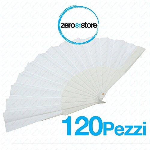 081 Store - 120 Pezzi VENTAGLI Matrimonio VENTAGLIO Bianchi Wedding Sposa VENTAGLI Chiesa