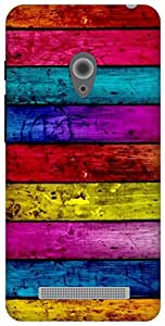 The Racoon Grip Pastel Wood hard plastic printed back case for Asus Zenfone 5 A500CG/A501CG