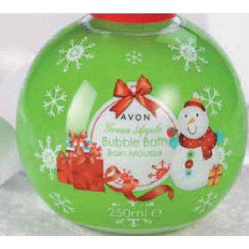 Grüner Apfel Schaumbad (Avon Bubble Bath Schaumbad Grüner Apfel Weihnachtsedition)