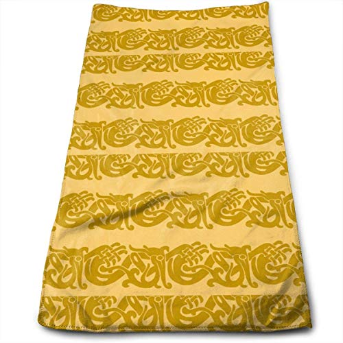 Strandtücher, Beach Towel, Microfibre Towel, Hand Towels, Merida Brave Celtic Border Gold Travel Multi-Purpose Fast Dry Swimming Camping Hiking Yoga Hair Beauty Cleaning Furniture 11.8