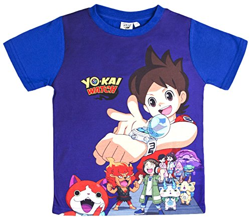 boys-yo-kai-watch-short-sleeved-t-shirt-dark-blue-purple-size-6